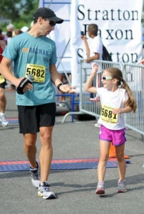 High 5 from my daughter Mia after completing her first 5K (age 6)!
